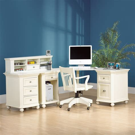 white corner desk with storage bungalow corner desk with hutch and storage at hayneedle