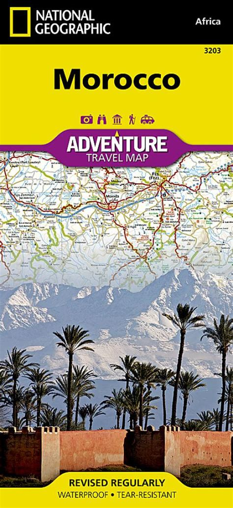 Morocco Adventure Map 3203 By National Geographic Maps