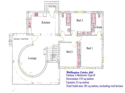 luxury ranch floor plans 4 bedroom bungalow floor plan residential house plans 4