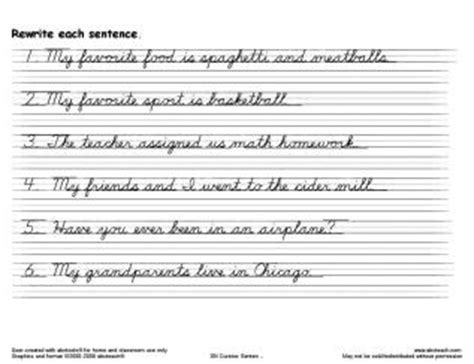 11 Best Images Of Practice Writing Sentences Worksheets  Practice Cursive Writing Worksheets