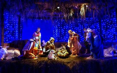 Christmas Desktop Computer Wallpapers Scene Nativity Wallpapertag