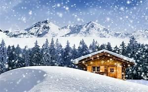 Dream winter cottage HD desktop wallpaper : Widescreen ...