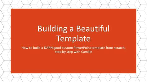 create  custom powerpoint template nuts bolts