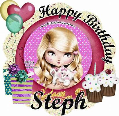 Glitter Birthday Happy Steph Graphics Belen Personal