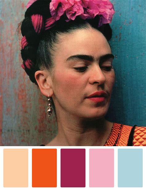 Color Palettes Inspired By Frida Kahlo  Pesquisa Google