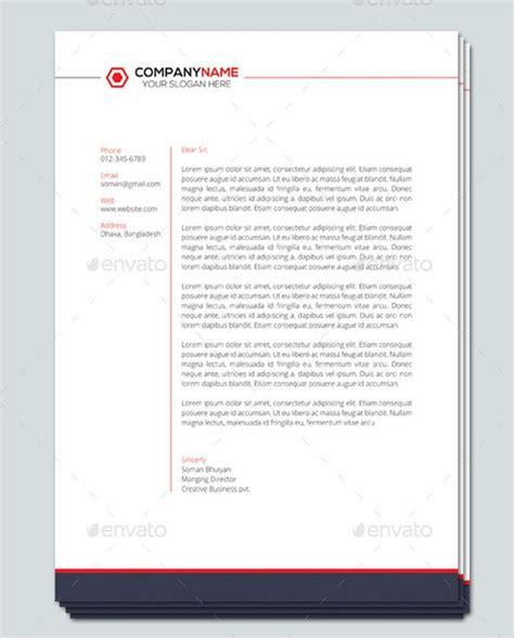 sample company letterhead templates sample templates