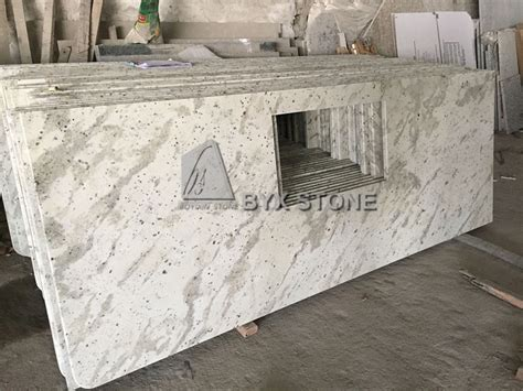 china andromeda white granite countertop for bathroom and