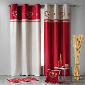 Rideau Lin Pas Cher : rideau tamisant 140 x h240 cm home love rouge lin rideau tamisant eminza ~ Teatrodelosmanantiales.com Idées de Décoration
