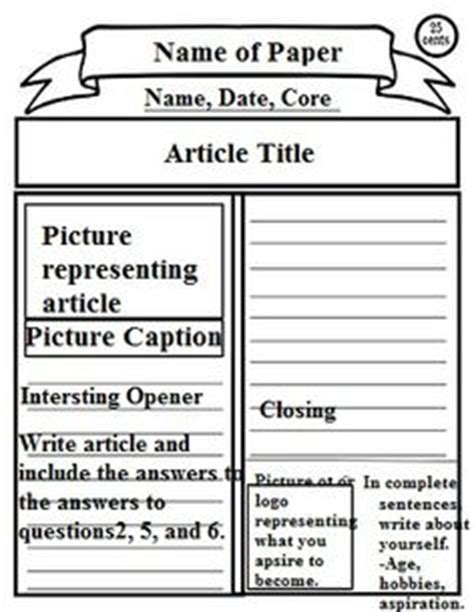revolutionary war newspaper template revolutionary war political classroom social studies war and