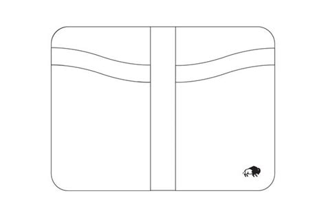 wallet template no 52 vertical wallet template stock and barrel