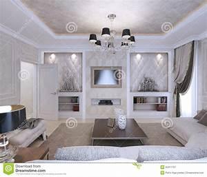 Style Et Deco : salon style d 39 art d co style classique illustration ~ Zukunftsfamilie.com Idées de Décoration