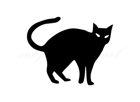 Black Cat Halloween Shadow Cut Files Svg And Studio 3 File