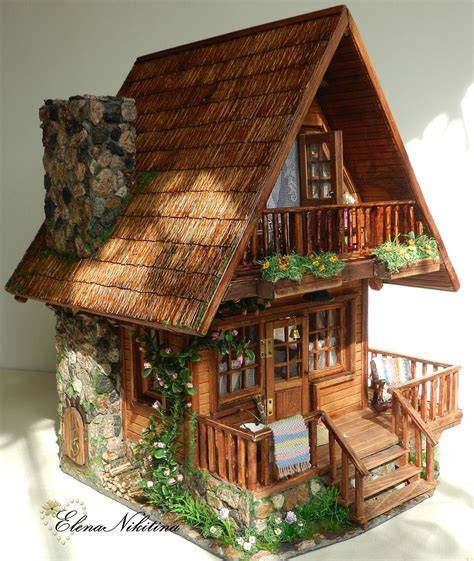 miniature houses chalet style dollhouse doll houses and more miniaturas