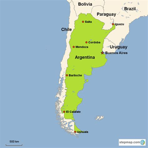 map  argentina  capital  travel information
