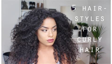 Curly Hairstyles by 5 Easy Hairstyles For Curly Hair