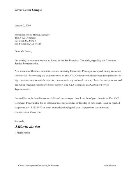 cover letter student best photos of sample cover letter for students sample