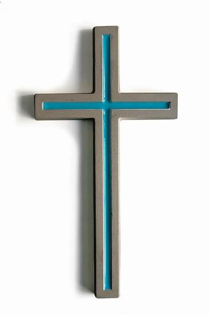 Cross Concrete Minimalist Contemporary Hanging Colors Crucifix
