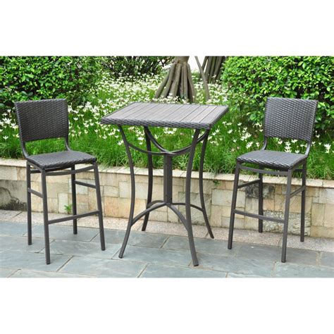 furniture delightful patio bar height table and chairs 5