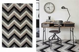Tapis Scandinave Maison Du Monde : tapis gris noir et blanc id es de d coration int rieure french decor ~ Nature-et-papiers.com Idées de Décoration