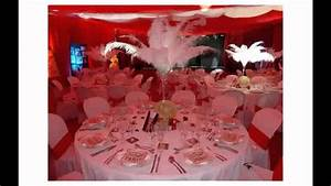 Décoration Mariage Rouge Et Blanc : decoration mariage rouge et blanc youtube ~ Melissatoandfro.com Idées de Décoration