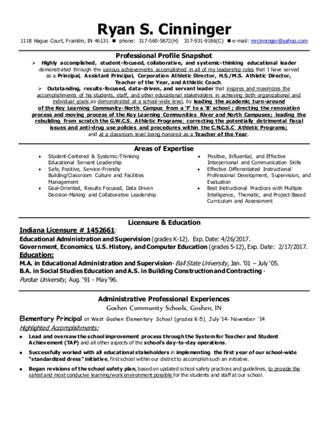 cinningeradminstrative resume june2015 with reference