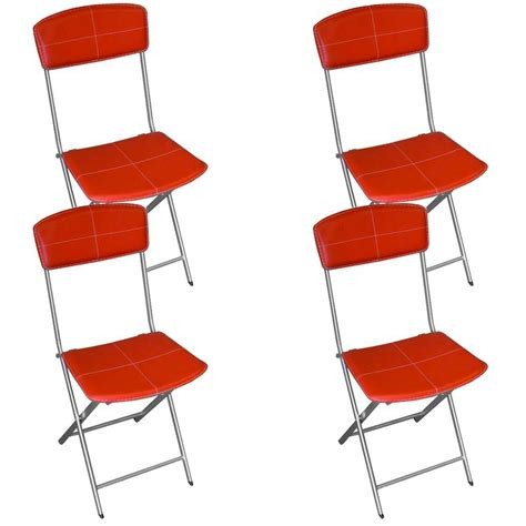 chaises pliables chaise en simili cuir maison design modanes com