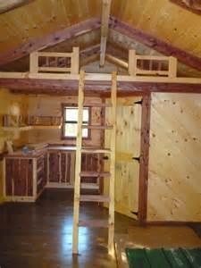 Small Log Cabin with Loft Interior