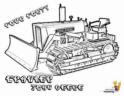 Coloring Construction Bulldozer Deere John Pages Vehicle