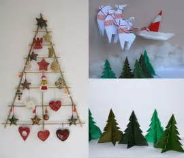 homemade christmas wall decorations rake christmas tree