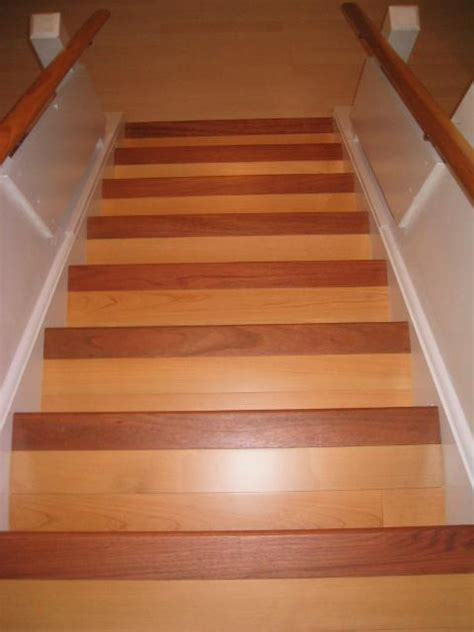 hardwood flooring stairs stairs treads and risers hardwood floor accessories by brazilian direct brazilian cherry