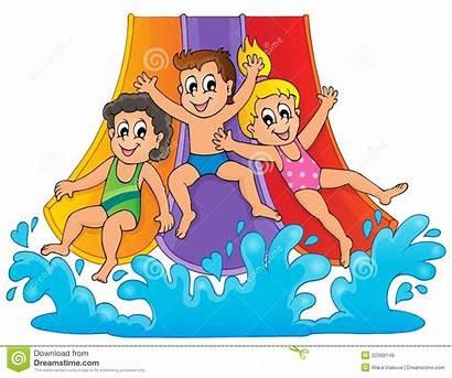 Slide Water Clipart Theme Aquapark Clip Slip