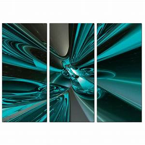 Cheap abstract canvas pictures panel in teal