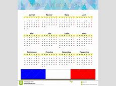 French calendar 2017 stock vector Illustration of 2019