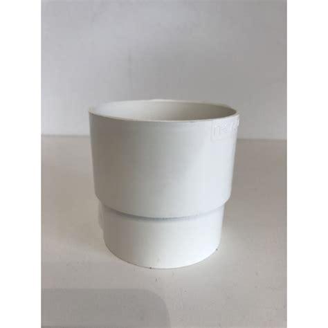 gouttière pvc blanc manchon de goutti 232 re pvc blanc mf d100