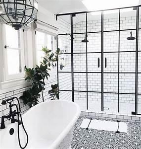 Déco Salle De Bain Noir Et Blanc : 21 id es d co de salle de bain en noir et blanc deco tendency ~ Melissatoandfro.com Idées de Décoration
