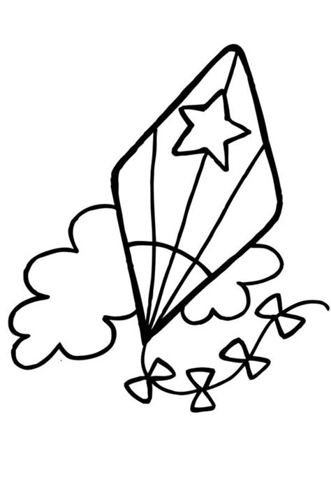 kite coloring pages    print