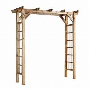 Arche Bébé Bois : arche double droite lonicera en bois x x cm autres marques jardinerie ~ Teatrodelosmanantiales.com Idées de Décoration
