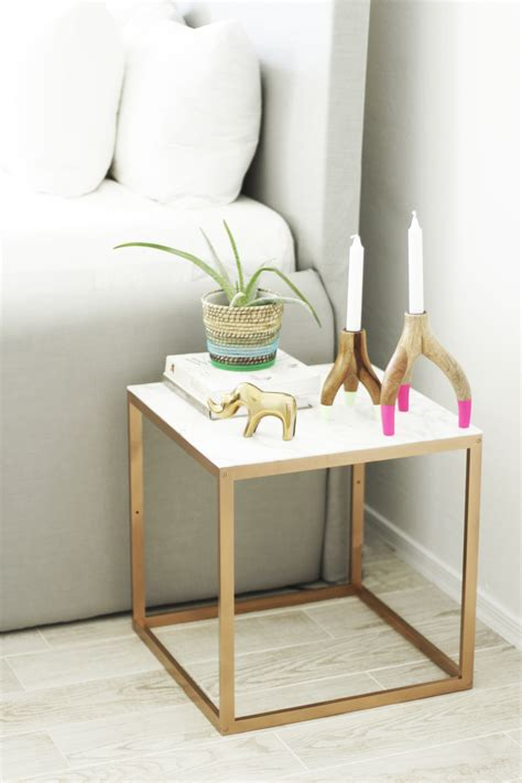 copper table l ikea ikea hacks 50 nightstands and end tables
