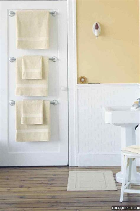 ideas  save space  add towel storage   small