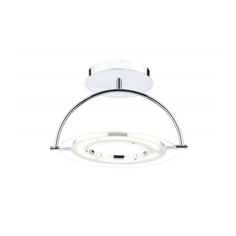atom led semi flush ceiling light in chrome ato1750