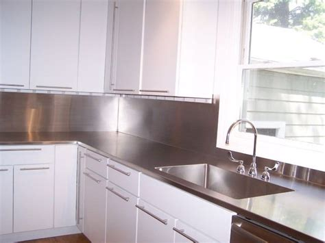 Stainless Steel Sink Countertop Integrated - stainless steel counter top with integrated sink home