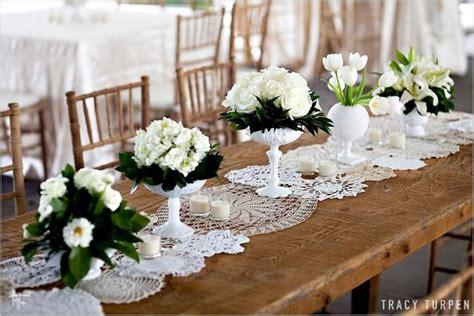 diy rustic vintage bulap and lace wedding reception ideas