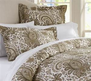 charlie paisley organic duvet cover sham natural With charlie bed pottery barn
