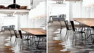 20 sols associant carrelage et bois diaporama photo With carrelage adhesif salle de bain avec table basse design led