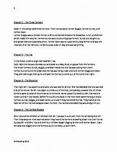 fantastic mr fox roald dahl adapted book summary With roald dahl book review template