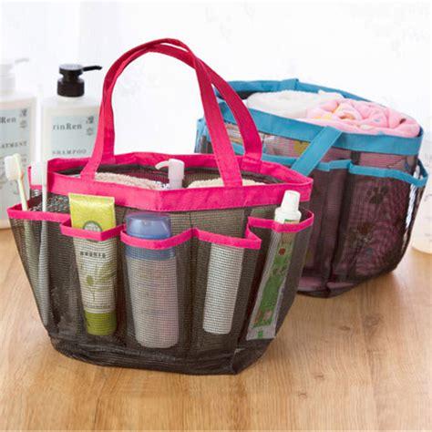 Travel Handle Shower Caddy Tote Carry Bag Bathroom Stuff
