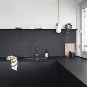 black backsplash kitchen kitchen upgrade the low cost diy black backsplash remodelista