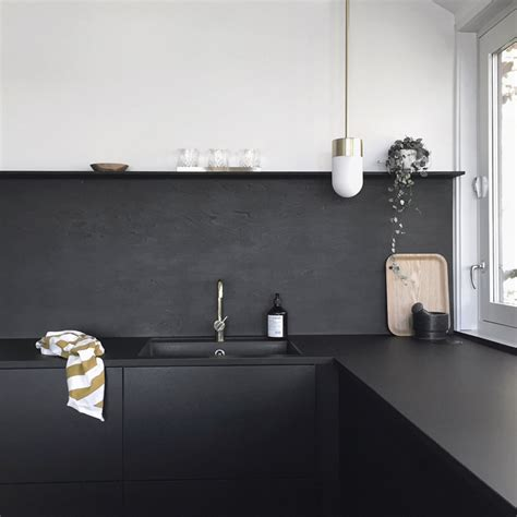 Kitchen Upgrade The Lowcost Diy Black Backsplash