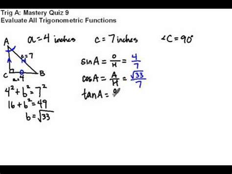 Evaluate All Six Trigonometric Functions Youtube