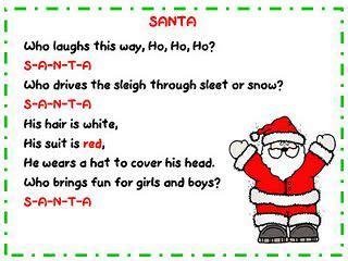 Santa Song And Song Chart Freebie  Classroom Freebies!  Pinterest  Santa Songs, Preschool